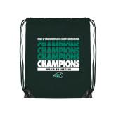 Dark Green Drawstring Backpack-2017 Mens Basketball Champions Repeating