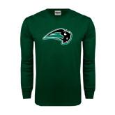 Dark Green Long Sleeve T Shirt-Bison