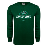 Dark Green Long Sleeve T Shirt-2016 Commonwealth Coast Conference Champions - Womens Tennis Spiral