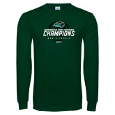 Dark Green Long Sleeve T Shirt-2017 Commonwealth Coast Conference Champions - Mens Tennis Spiral