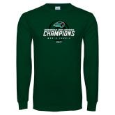 Dark Green Long Sleeve T Shirt-2017 Commonwealth Coast Conference Champions - Mens Tennis Spiral