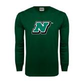 Dark Green Long Sleeve T Shirt-N