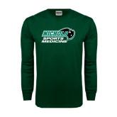 Dark Green Long Sleeve T Shirt-Sports Medicine