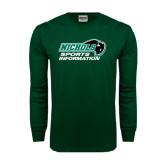 Dark Green Long Sleeve T Shirt-Sports Information