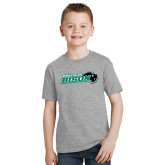 Youth Grey T-Shirt-Nichols College Bison w/Bison