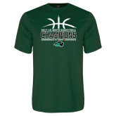 Performance Dark Green Tee-CCC Mens Basketball Champions