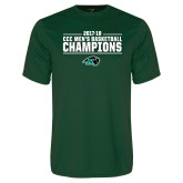 Performance Dark Green Tee-2017-18 CCC Mens Basketball Champions