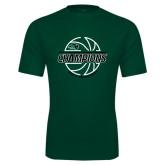 Performance Dark Green Tee-2017 Mens Basketball Champions Full Basketball