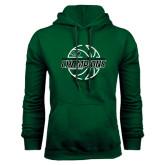Dark Green Fleece Hood-2017 Mens Basketball Champions Full Basketball