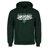 Dark Green Fleece Hood-Mens Ice Hockey Champions
