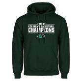 Dark Green Fleece Hood-2017-18 CCC Mens Basketball Champions