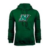 Dark Green Fleece Hood-N
