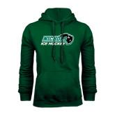 Dark Green Fleece Hood-Ice Hockey
