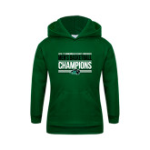 Youth Dark Green Fleece Hoodie-2017 Mens Basketball Champions Stacked