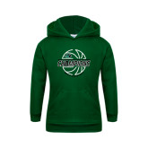 Youth Dark Green Fleece Hoodie-2017 Mens Basketball Champions Full Basketball
