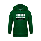 Youth Dark Green Fleece Hoodie-2017 Mens Basketball Champions Repeating