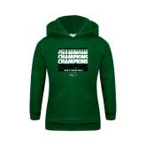 Youth Dark Green Fleece Hoodie-2017 Mens Basketball Champions Repeating