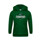 Youth Dark Green Fleece Hoodie-2017 Commonwealth Coast Conference Champions - Mens Tennis Spiral