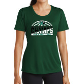 Ladies Performance Dark Green Tee-2017 Mens Basketball Champions Basketball