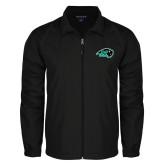 Full Zip Black Wind Jacket-N w/Bison