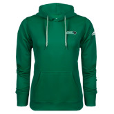 Adidas Climawarm Dark Green Team Issue Hoodie-Nichols College Bison w/Bison