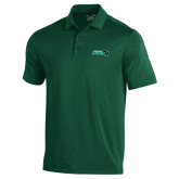 Under Armour Dark Green Performance Polo-Nichols College Bison w/Bison