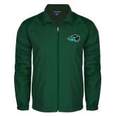 Full Zip Dark Green Wind Jacket-N w/Bison