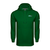 Under Armour Dark Green Performance Sweats Team Hoodie-Nichols College Bison w/Bison