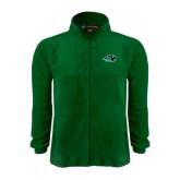 Fleece Full Zip Dark Green Jacket-N w/Bison