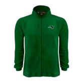 Fleece Full Zip Dark Green Jacket-Bison