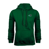 Dark Green Fleece Hood-N w/Bison