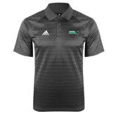 Adidas Climalite Charcoal Jaquard Select Polo-Nichols College Bison w/Bison