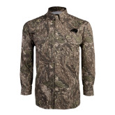 Camo Long Sleeve Performance Fishing Shirt-Bison