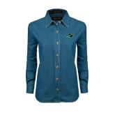 Ladies Denim Long Sleeve Shirt-N w/Bison