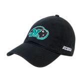 Black Twill Unstructured Low Profile Hat-N w/Bison