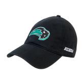 Black Twill Unstructured Low Profile Hat-Bison