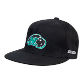 Black OttoFlex Flat Bill Pro Style Hat-N w/Bison