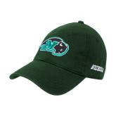 Dark Green Twill Unstructured Low Profile Hat-N w/Bison