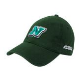 Dark Green Twill Unstructured Low Profile Hat-N