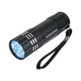 Industrial Triple LED Black Flashlight-Nichols College Engraved