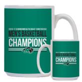 Full Color White Mug 15oz-2017 Mens Basketball Champions Stacked