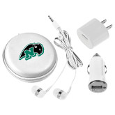 3 in 1 White Audio Travel Kit-N w/Bison