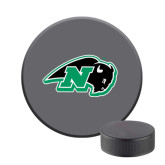 Hockey Puck Stress Reliever-N w/Bison