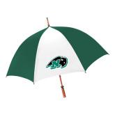 62 Inch Forest Green/White Umbrella-N w/Bison