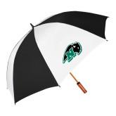62 Inch Black/White Umbrella-N w/Bison