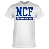 White T Shirt-Hashtag