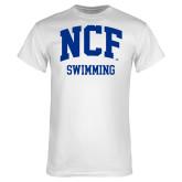 White T Shirt-Swimming