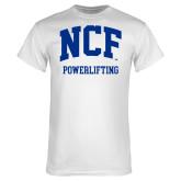White T Shirt-Powerlifting