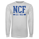 White Long Sleeve T Shirt-NCF Est.