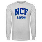 White Long Sleeve T Shirt-Rowing